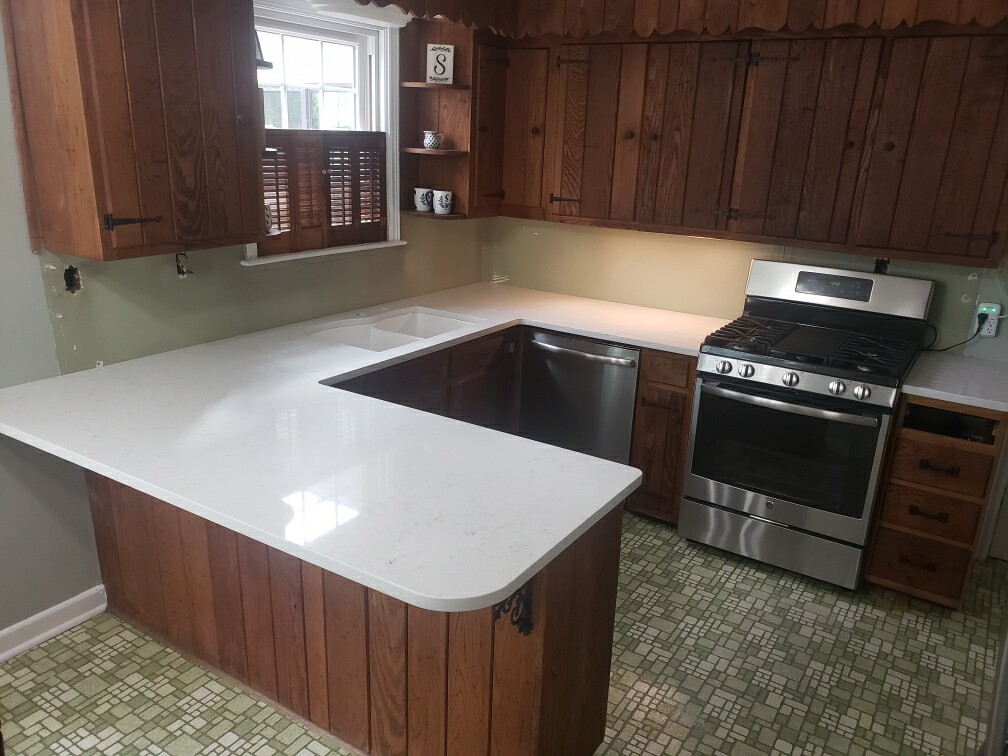 Aspen Quartz Kitchen Island Bartop