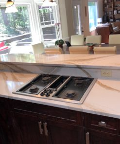 Brittanica Gold Quartz kitchen countertop