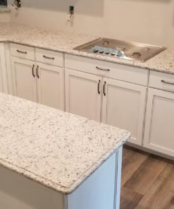 white-ornamental-granite-kitchen-countertops-with-island