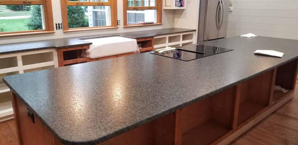 Black Pearl Granite Leathered Kitchen Island Countertop