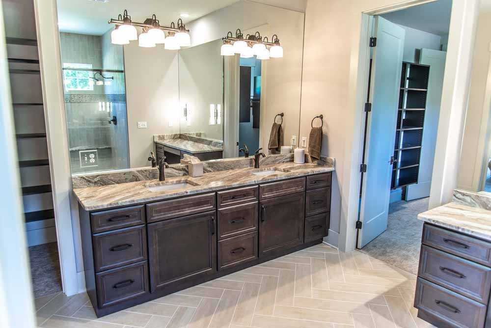 Fantasy Brown Marble bathroom vanity