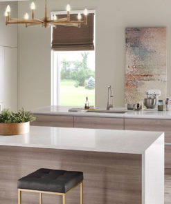 Marbella White Quartz kitchen countertop