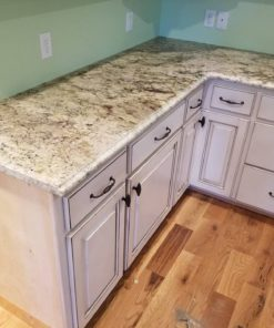 Sienna Bordeaux Granite Kitchen Countertops Traditional White Cabinetry