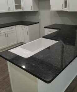 Steel Gray Granite Kitchen Countertops