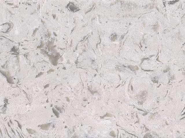 Tropical White Quartz countertop slab color sample