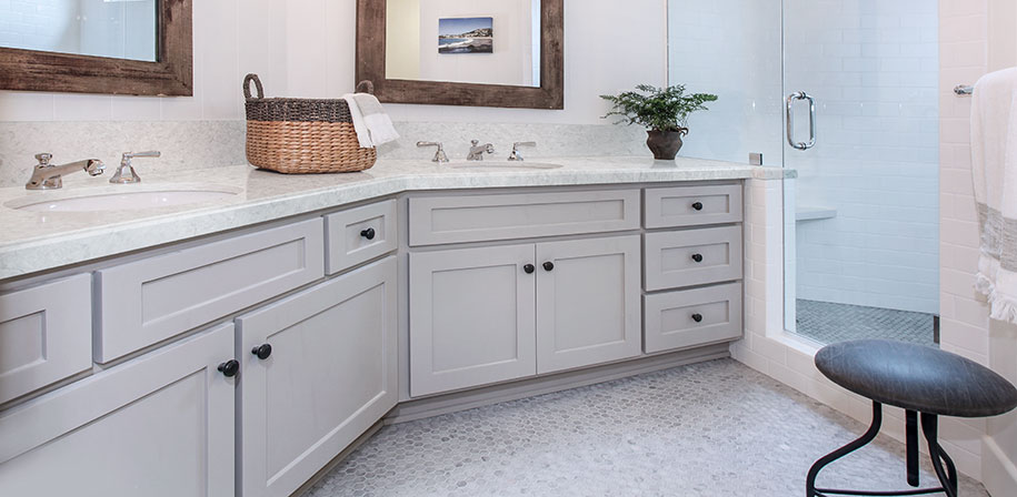 Rolling Fog Quartz bathroom vanity countertop vendor MSI