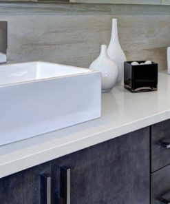 Smoked Pearl Quartz bathroom vanity countertop vendor MSI