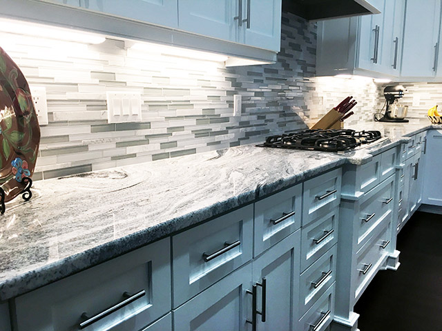 Viscon White Granite Kitchen Countertops